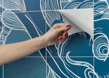 Piastrelle adesive brico for Brico adesivi pareti