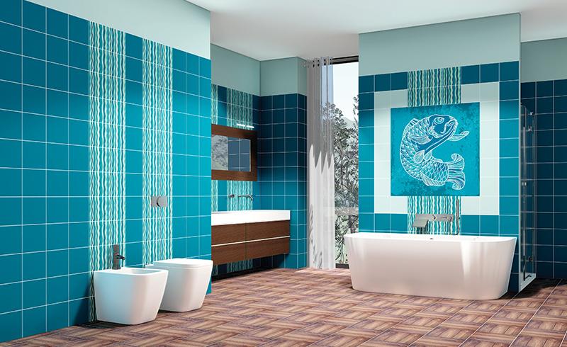 Piastrelle bagno verde petrolio piastrella da interno da bagno da parete in gres with - Piastrelle da interno prezzi ...