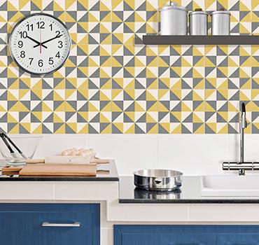 Linea geometrico for Adesivi per mattonelle da cucina